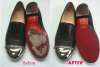 Red Metallic Shoes repaired
